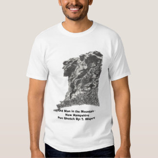 Old Man in the Mountain - New Hampshire - Pen Sket Shirt