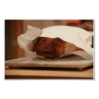 Old Man Italian Bread Poster