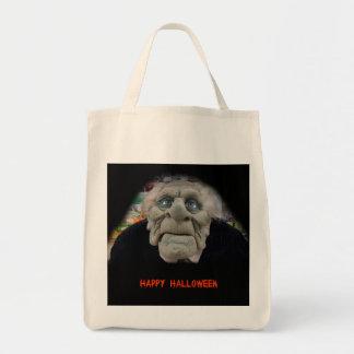 Old Man Mask in Black Background Tote Bag