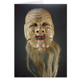 Old Man Mask, Noh Theatre Card