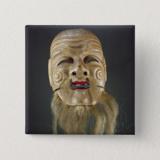 Old Man Mask, Noh Theatre Pinback Button