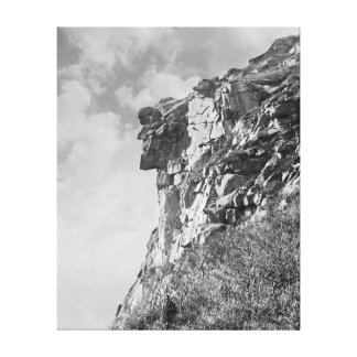 Old Man of The Mountain, 1901. Vintage Photo Canvas Print