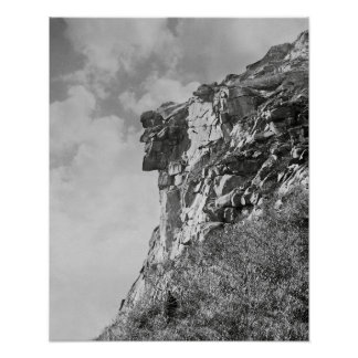 Old Man of The Mountain, 1901. Vintage Photo Poster