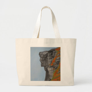 Old Man of the Mountain in Fall Large Tote Bag