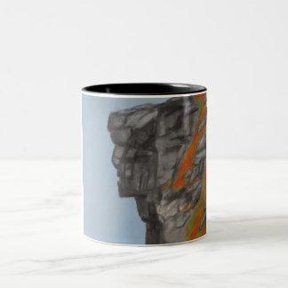 Old Man of the Mountain in Fall Two-Tone Coffee Mug