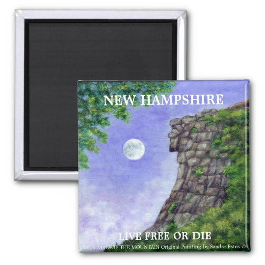 OLD MAN OF THE MOUNTAIN New Hampshire Art Magnet 2