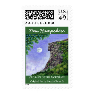 OLD MAN OF THE MOUNTAIN New Hampshire Art Stamps