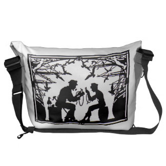 OLD MAN OF THE SEA TEACHES ROPEWORK DESIGN COURIER BAG