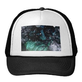 Old man of winter grunge look trucker hat