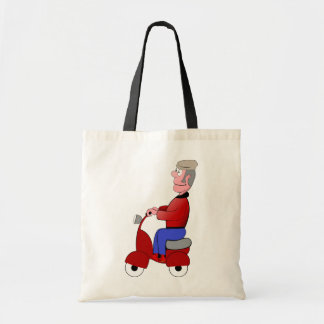 Old Man On A Scooter Tote Bag