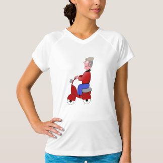 Old Man On A Scooter Womens Active Tee
