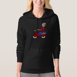Old Man On A Scooter Womens Hoodie