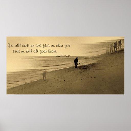 old man on beach -- verse poster
