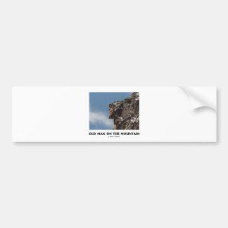 Old Man On The Mountain (Optical Illusion) Car Bumper Sticker