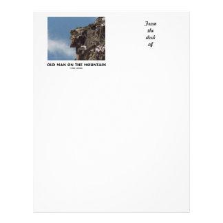 Old Man On The Mountain (Optical Illusion) Letterhead Template