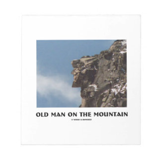 Old Man On The Mountain Optical Illusion Memo Pads