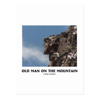 Old Man On The Mountain Optical Illusion Postcard