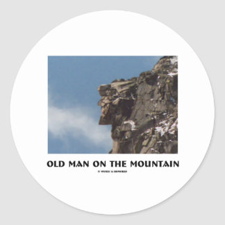 Old Man On The Mountain (Optical Illusion) Classic Round Sticker