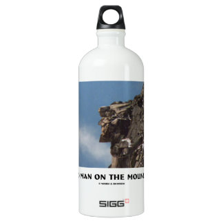 Old Man On The Mountain (Optical Illusion) Water Bottle