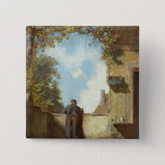 Old Man on the Terrace Pinback Button
