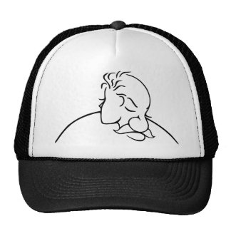 Old Man Or Young Lady Optical Illusion Trucker Hat