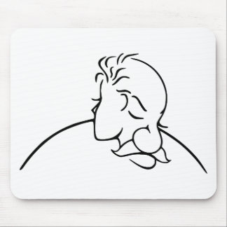 Old Man Or Young Lady Optical Illusion Mouse Pad