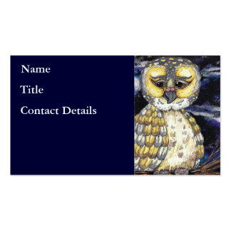 Old Man Owl Business Cards