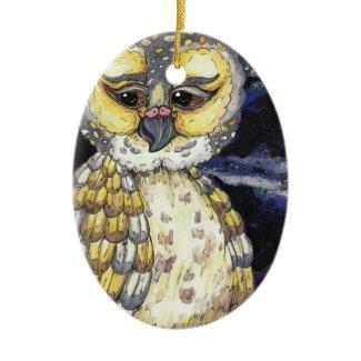 Old Man Owl Ornament ornament