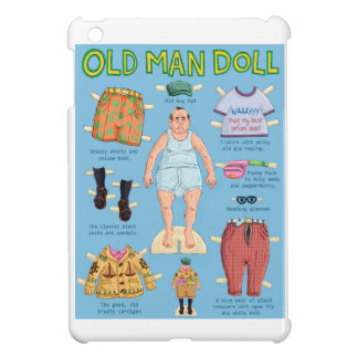 Old Man Paper Doll. iPad Mini Covers