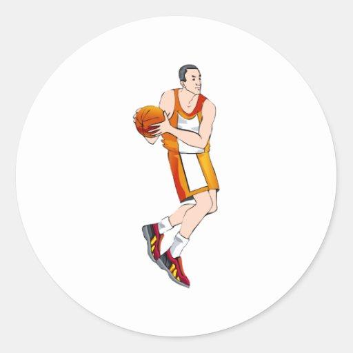 old man player classic round sticker