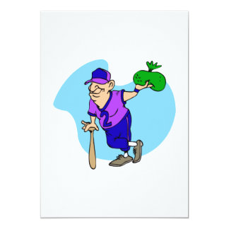 Old man player with bag of dough card