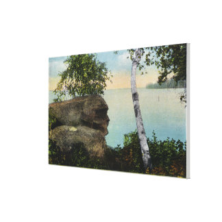 Old Man Rock Formation of Eagle Island View Gallery Wrap Canvas