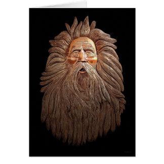 Old Man Santa Christmas Card