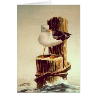 OLD MAN SEAGULL by SHARON SHARPE Stationery Note Card