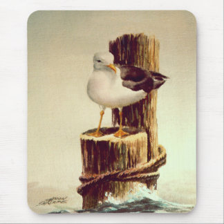 OLD MAN SEAGULL by SHARON SHARPE Mouse Pad