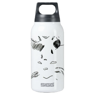 Old Man Squinty Eye Insulated Water Bottle