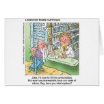 Old Man & The Pharmacy Funny Offbeat Cartoon Gifts Cards