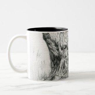 """""""Old Man Tree Spirit"""" drawing Mug"""