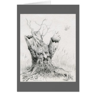 """Old Man Tree Spirit"" graphite Card"