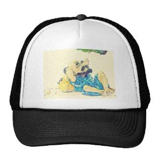 Old Man Under Tree Trucker Hat