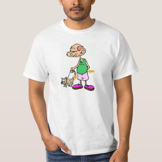 Old Man Walking the Dog T-Shirt