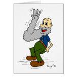 Old Man Waving Beard Greeting Card