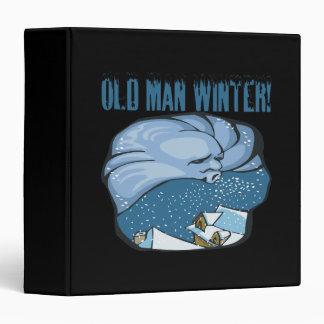 Old Man Winter 3 Ring Binder