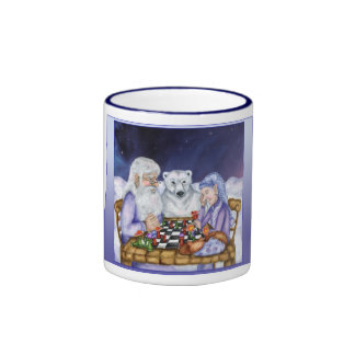 Old Man Winter and Jack Frost play Chess Mug