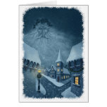 old man winter holiday greetingcard w snow edge cards