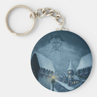 old man winter holiday keychain