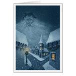 old man winter holiday notecard greeting cards