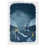 old man winter holiday notecard w snowy edge card