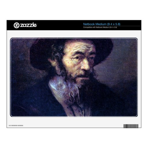 Old man with a fur cap by Rembrandt Medium Netbook Skins