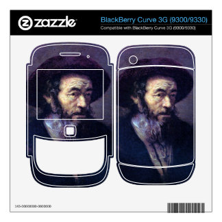 Old man with a fur cap by Rembrandt BlackBerry Curve Skin